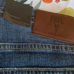 "NWT FRYE Dark Wash 32"" Walker Slim Jeans, Mid-Rise"